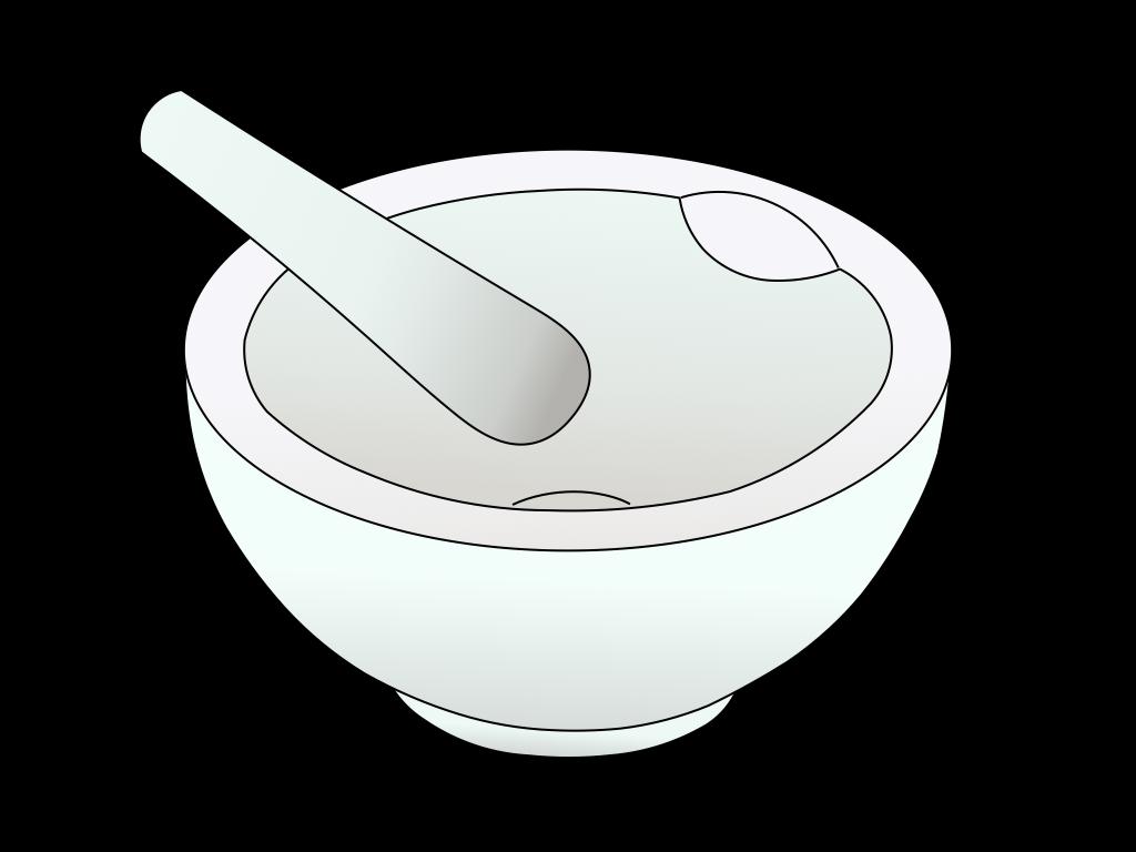 乳鉢のフリーイラスト画像