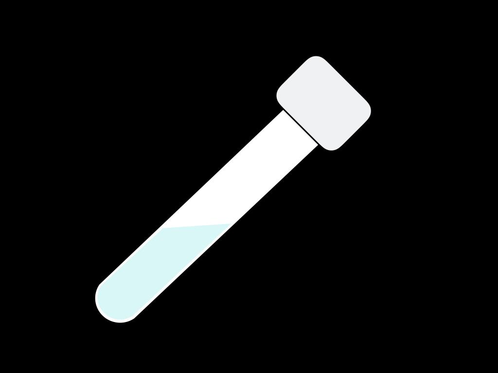 遠沈管と溶液のフリーイラスト画像