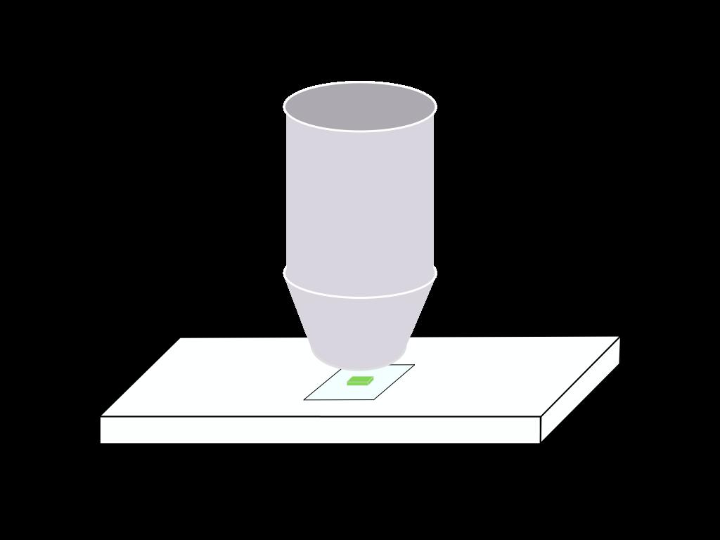 顕微鏡観察のフリーイラスト画像1