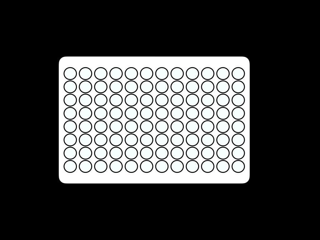 96穴ウェルプレートのフリーイラスト画像