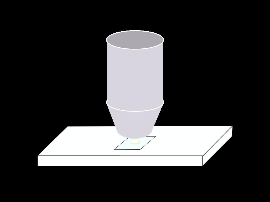 顕微鏡観察のフリーイラスト画像2